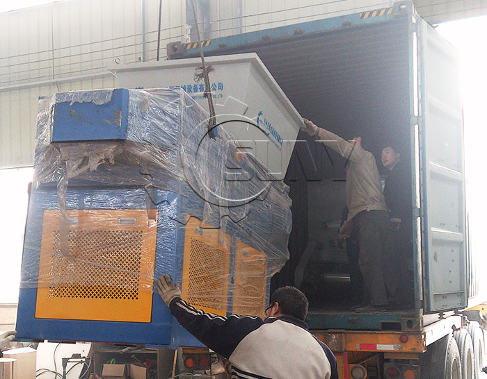 Single Shaft Shredder Packaging & Shipping