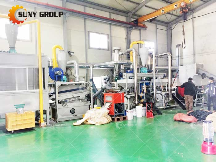 Korean miscellaneous Cable Wire Recycling Machine work site